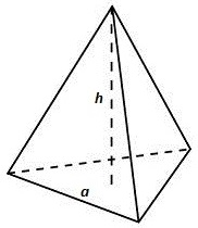 Pirámide regular triangular